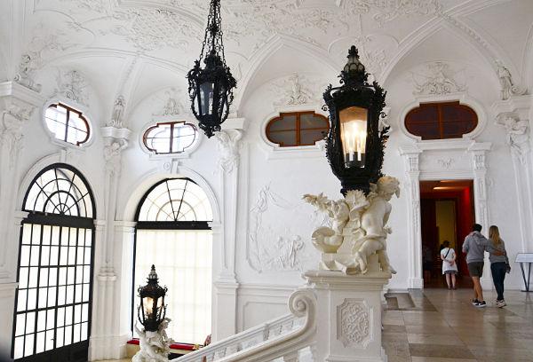 interno Belvedere superiore a Vienna
