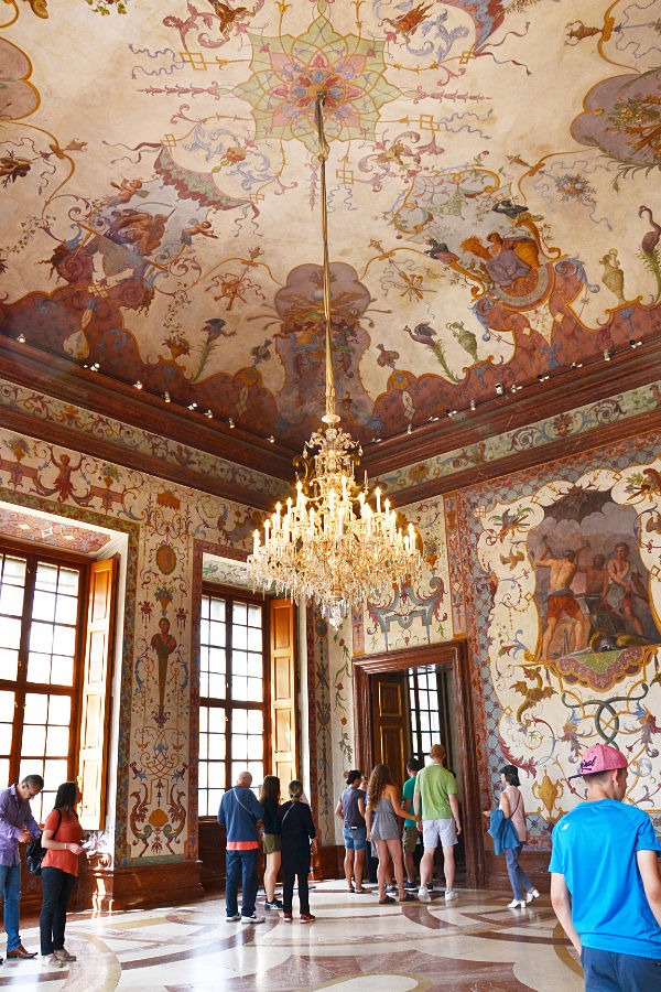 affresco interno Belvedere superiore a Vienna