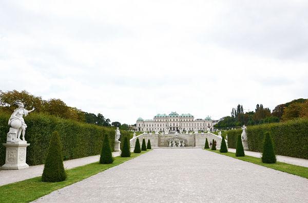 veduta sul Belvedere superiore a Vienna