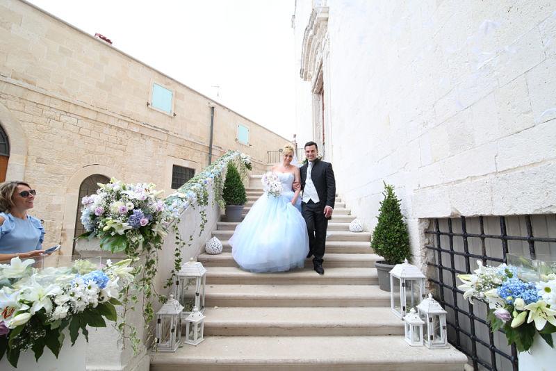 allestimento chiesa matrimonio in Puglia a tema Cenerentola_opt
