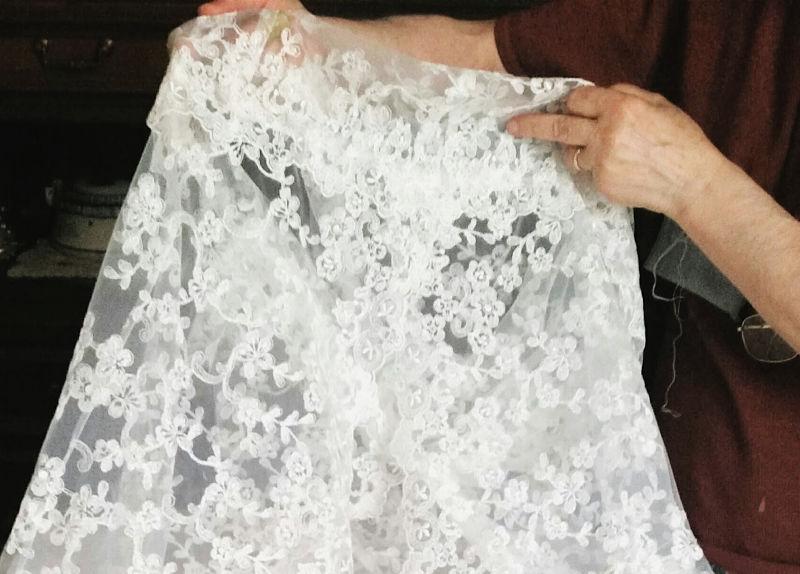 pizzo abito da sposa