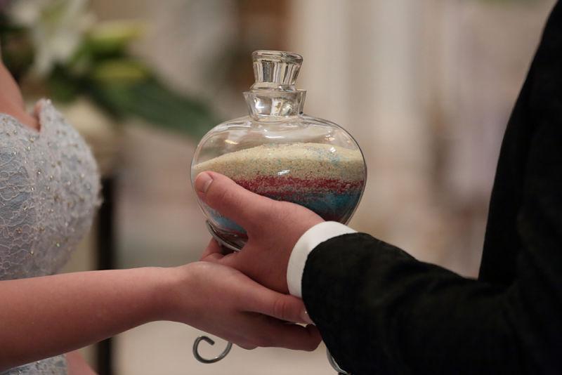 rito della sabbia matrimonio in Puglia a tema Cenerentola