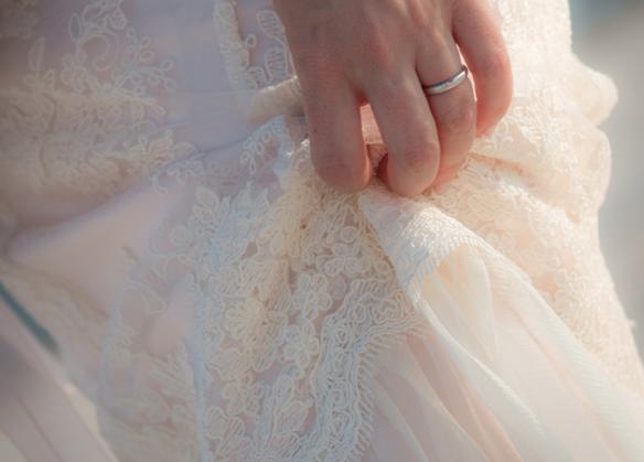 tessuti abito sposa romantico economico