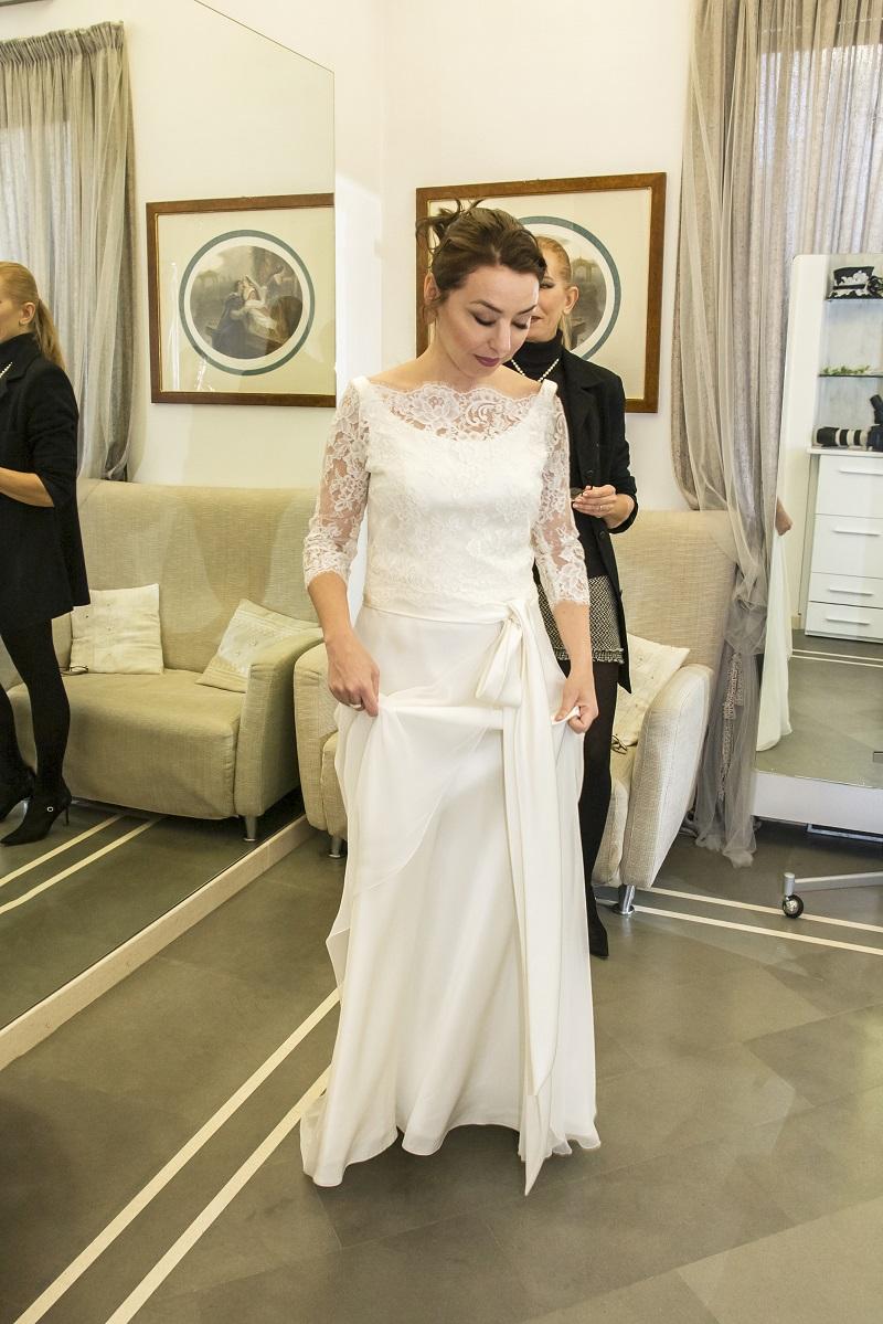 abiti da sposa 2018 modelli a tubino di Califa, Forlì
