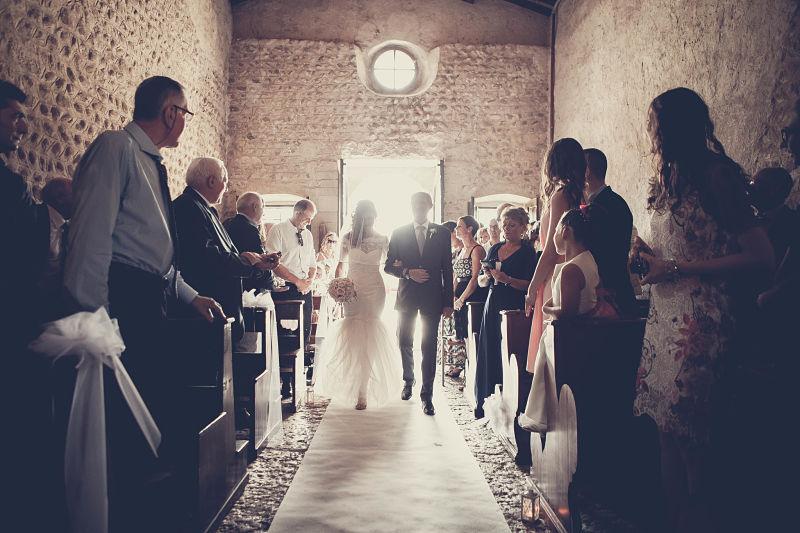 arrivo sposi in chiesa