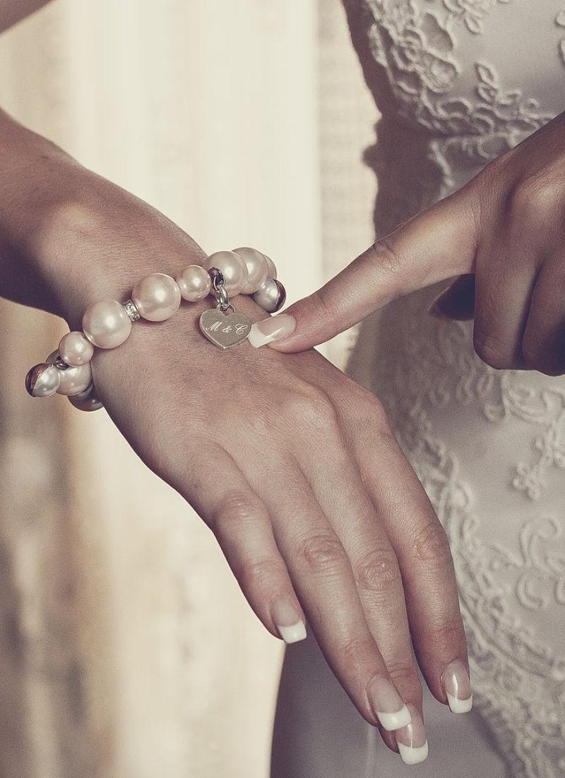 bracciale sposa con perle rosa
