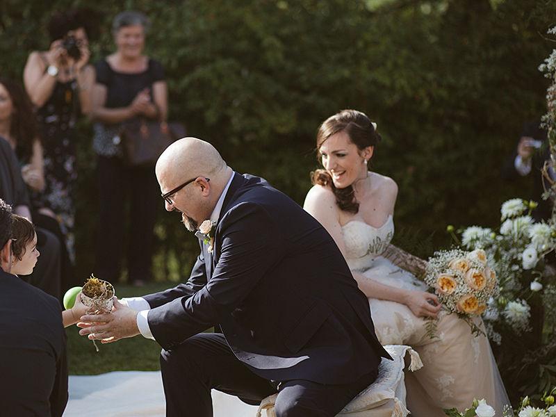 cerimonia nuziale all'aperto
