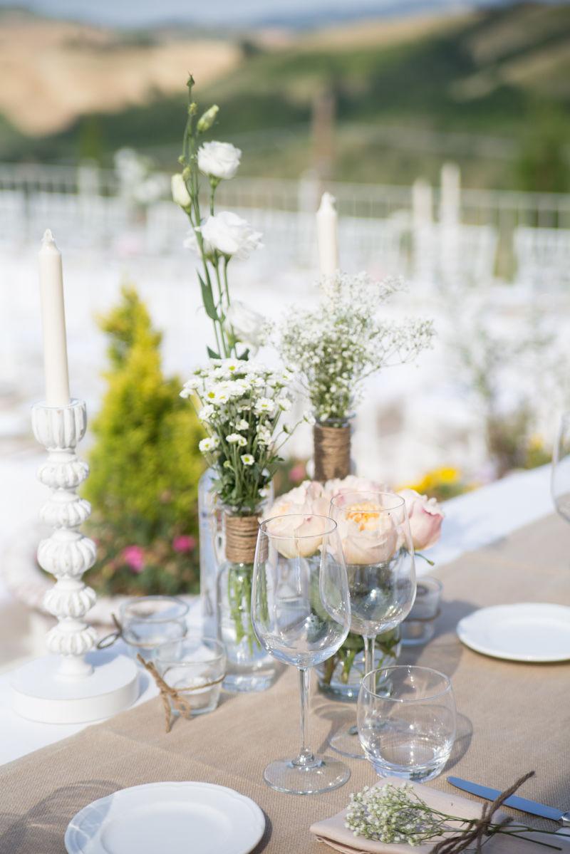 composizioni floreali matrimonio rustico Bologna