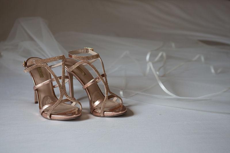 sandali sposa rosa