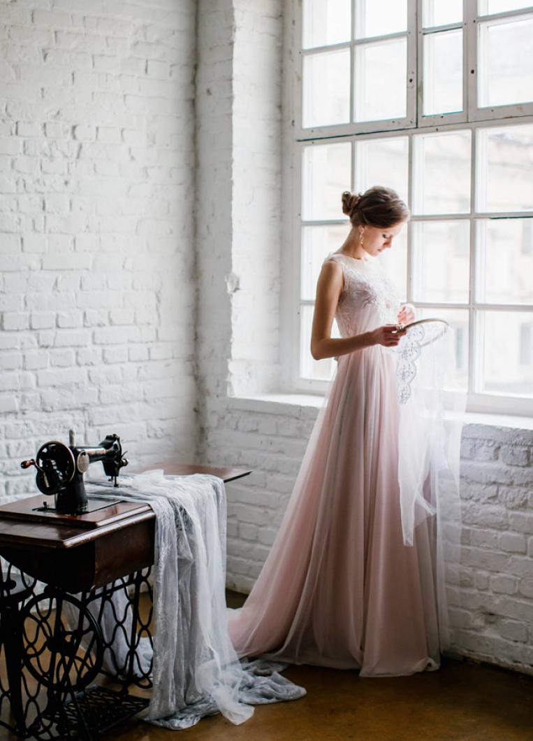 abito sposa economico viola