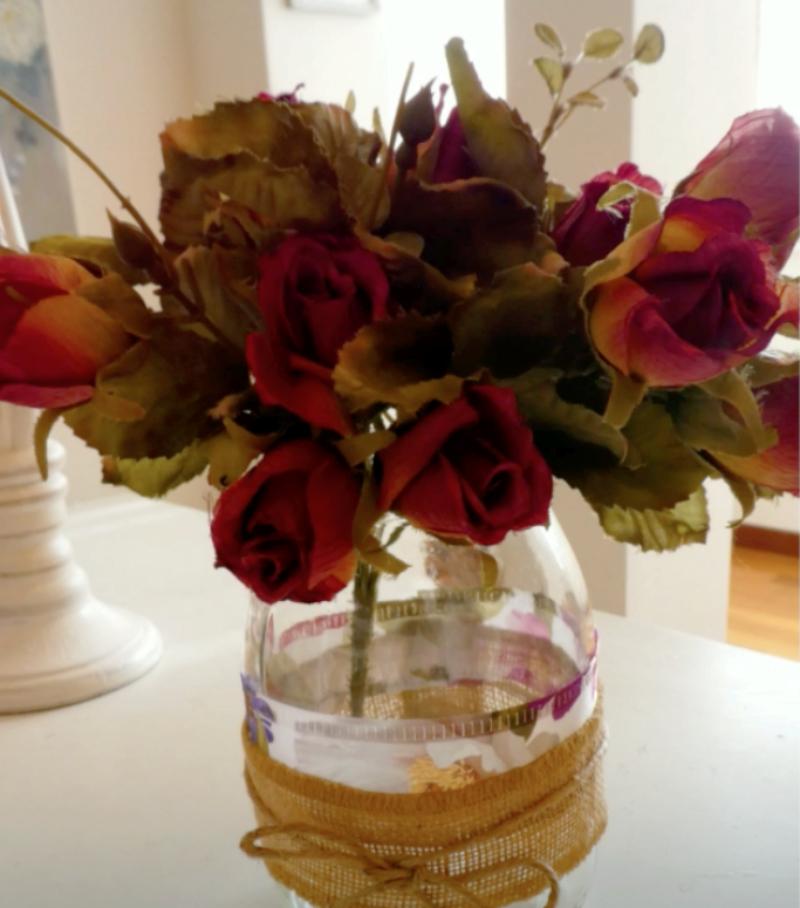 tutorial per decorare vasetti matrimonio rustico