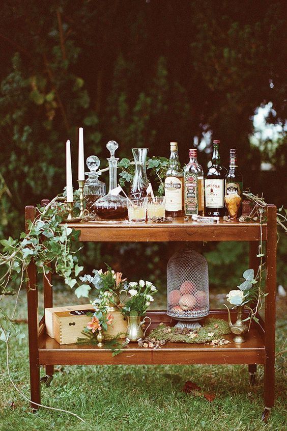 angolo liquori matrimonio a tema vino