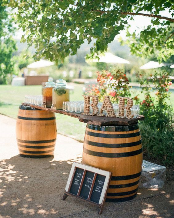 idee per matrimonio a tema vino