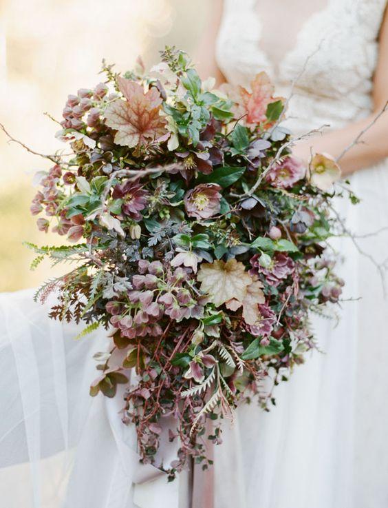 bouquet matrimonio a tema vino