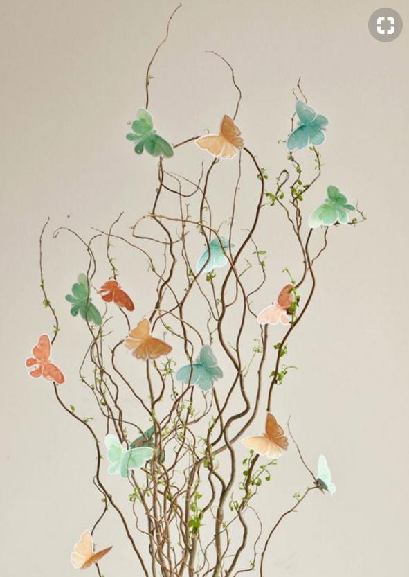 rami decorati con farfalle