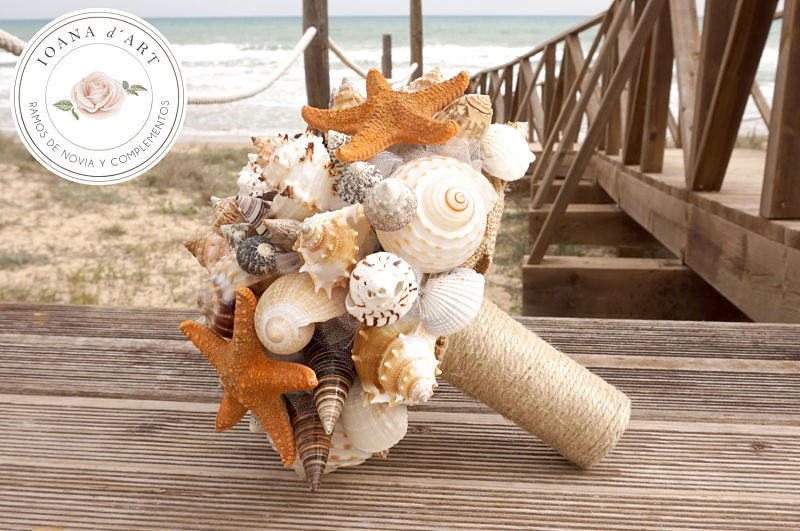 bouquet sposa alternativi con le conchiglie