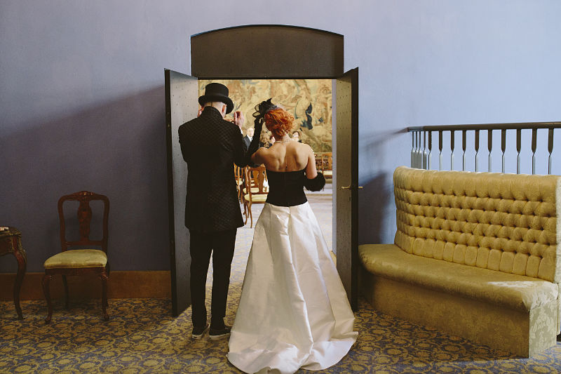 abiti di nozze in bianco e nero