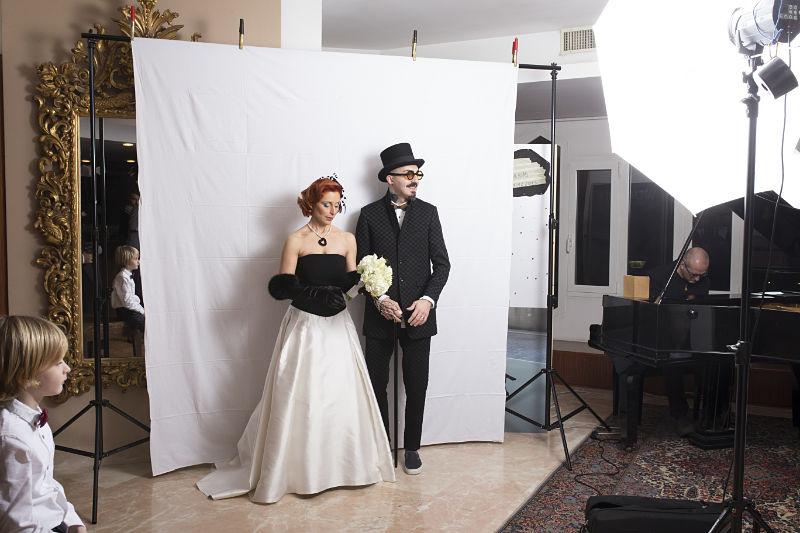 photo booth matrimonio creativo