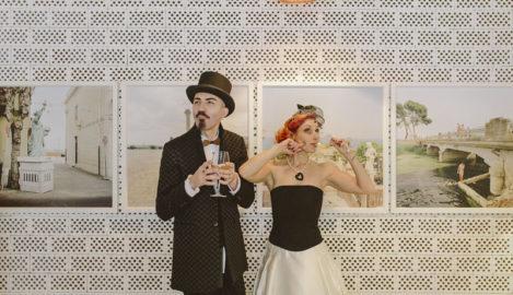 matrimonio non convenzionale in bianco e nero