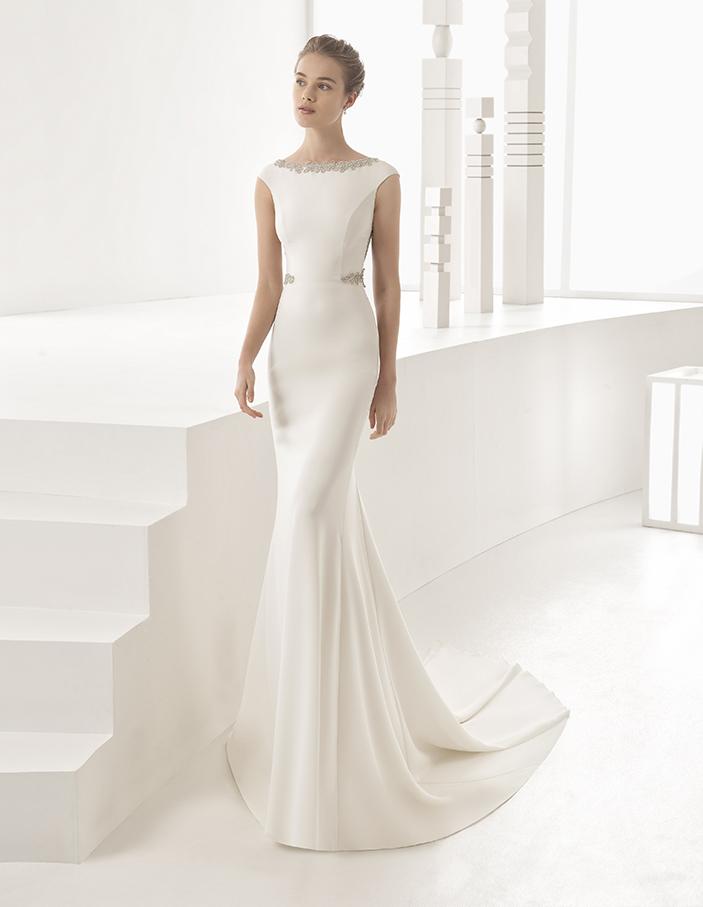 abiti sposa minimal chic