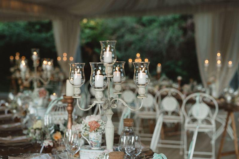 allestimento tavoli matrimonio vintage