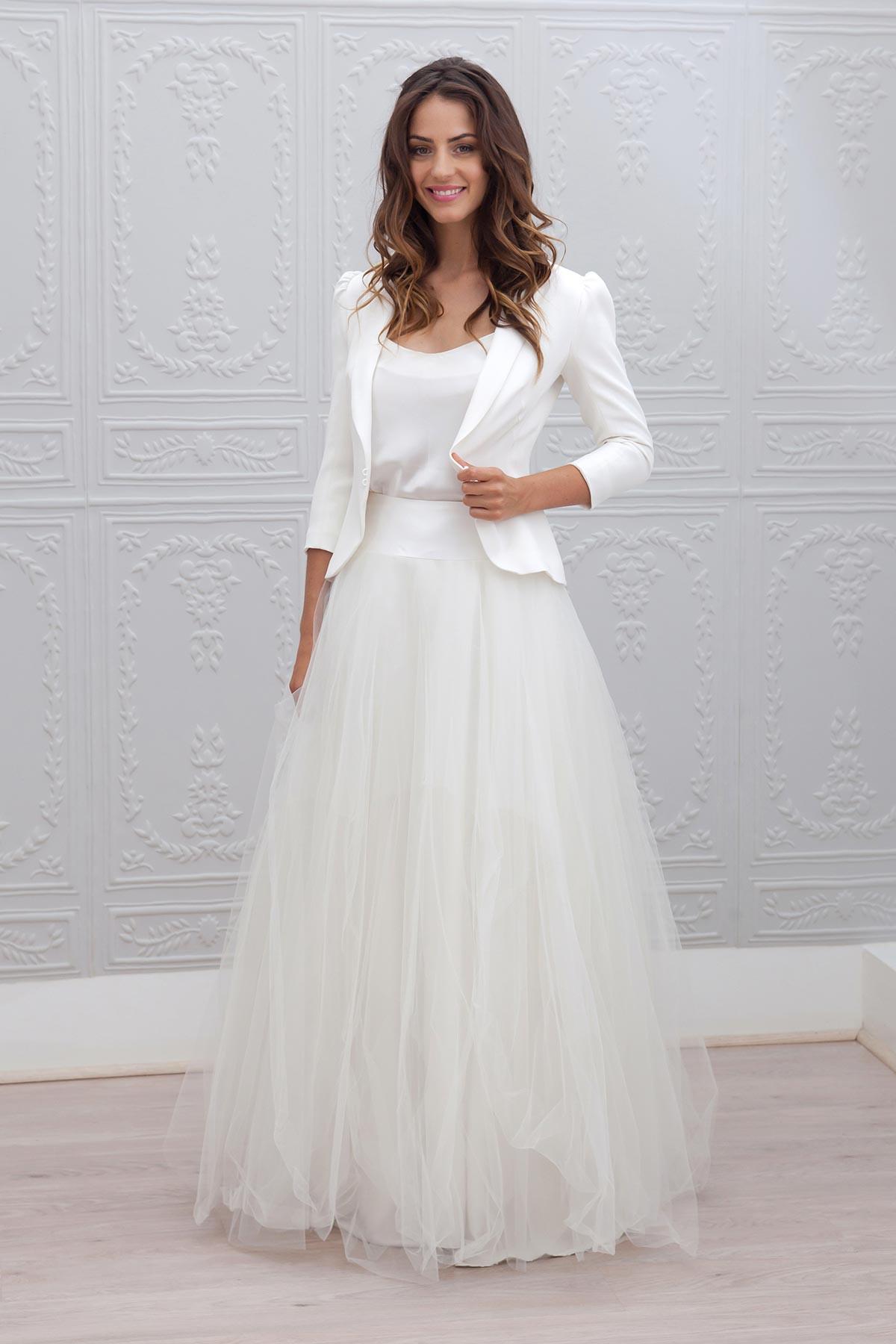 abito da sposa con blazer