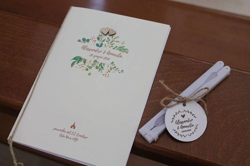 libretti messa matrimonio boho chic