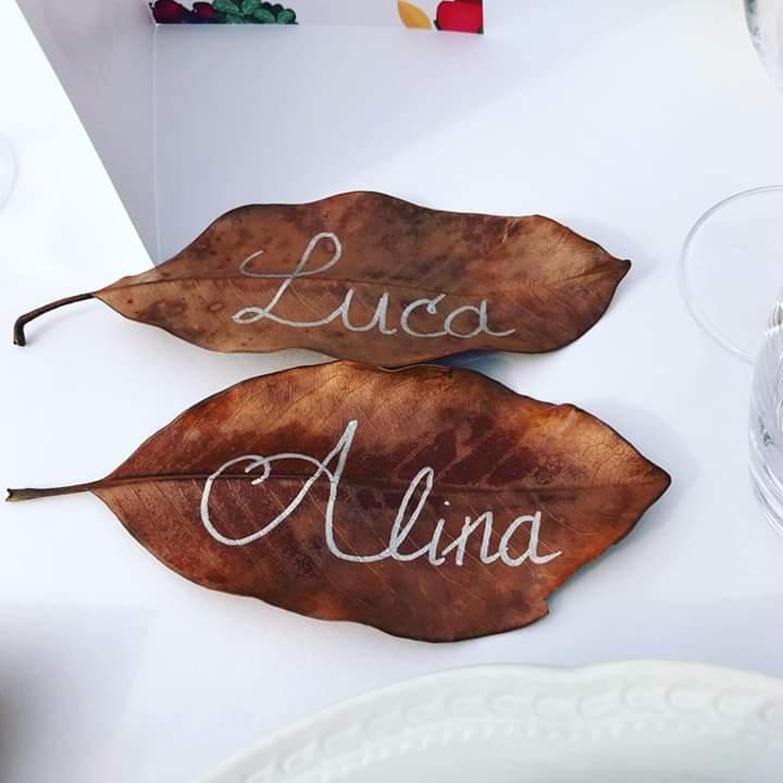 segnaposto ecologici Matrimonio autunnale boho chic a Modena