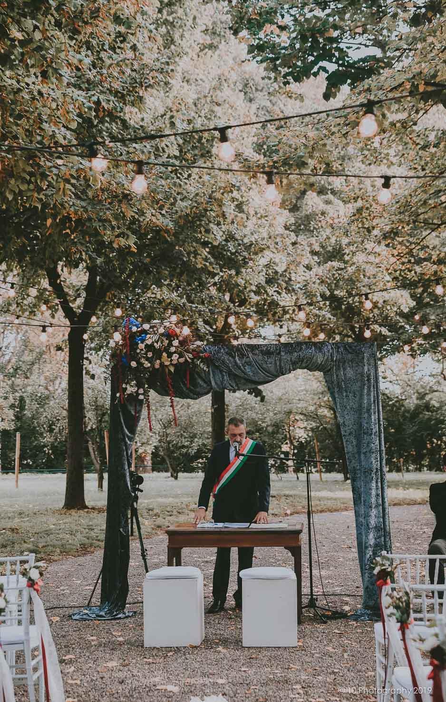 allestimento altare Matrimonio autunnale boho chic a Modena