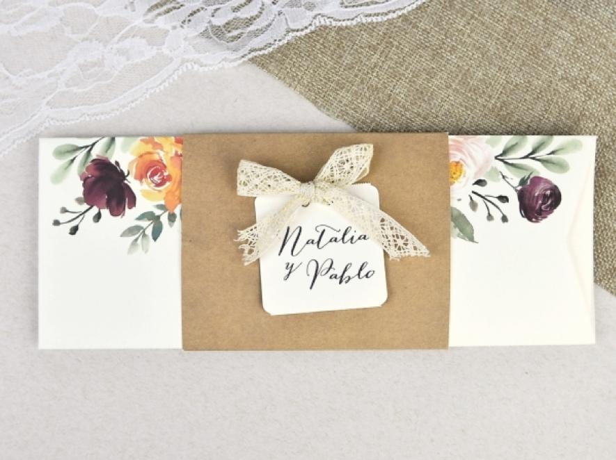 partecipazioni di nozze floreale