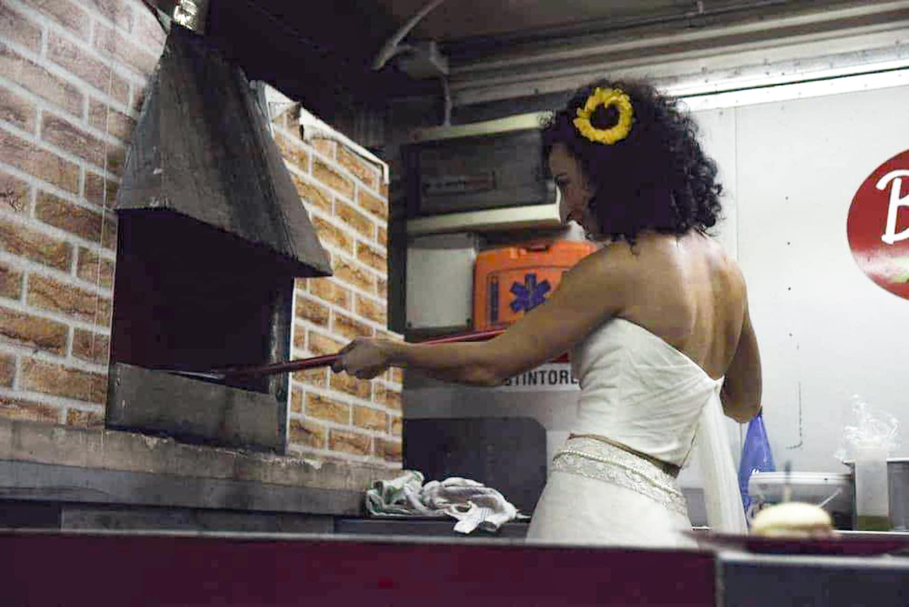 apericena matrimonio a base di pizza