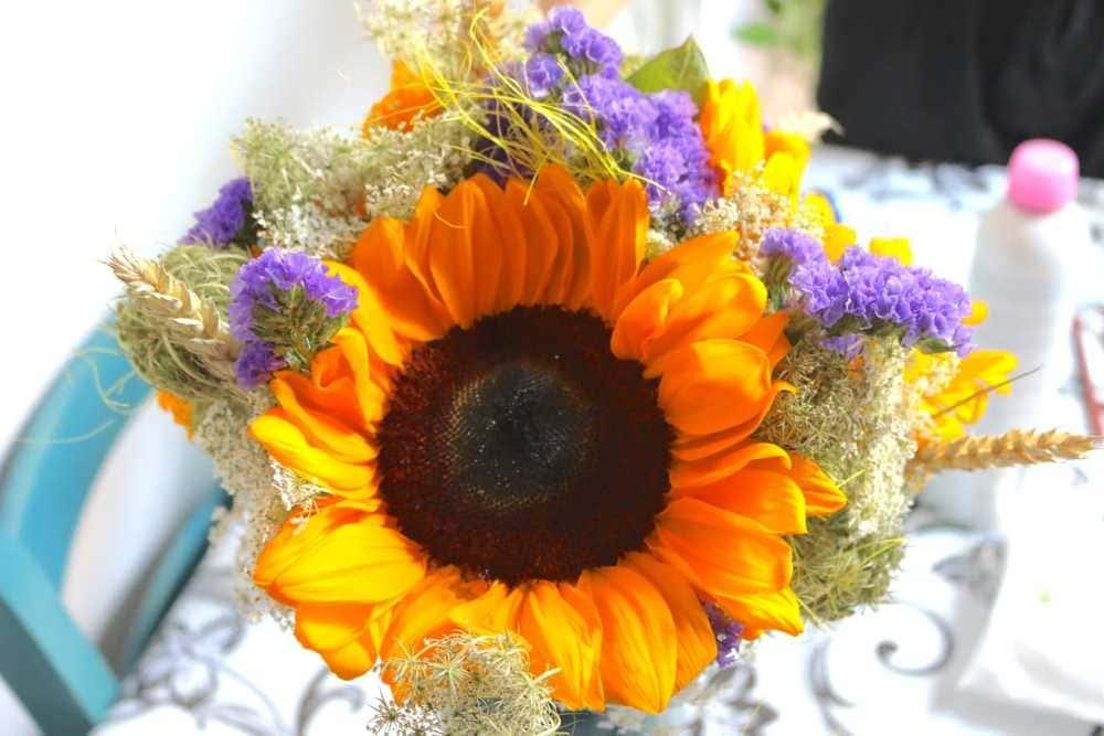 fiori matrimonio semplice in giardino
