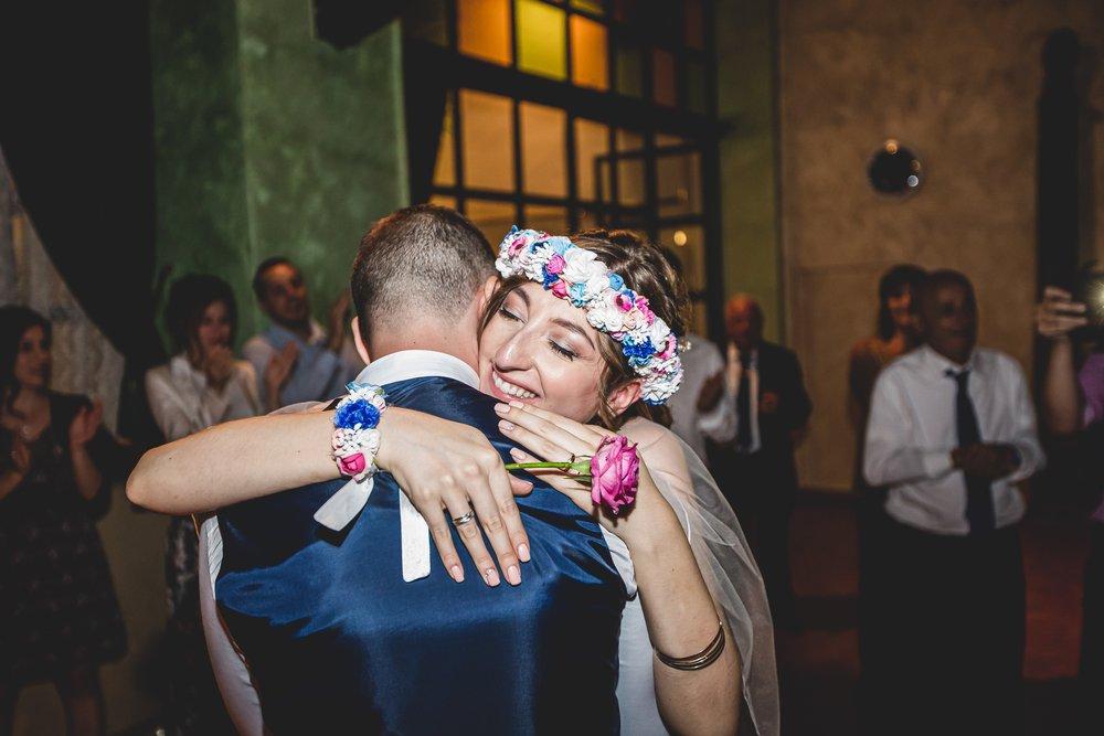 coroncina sposa con fiori di stoffa